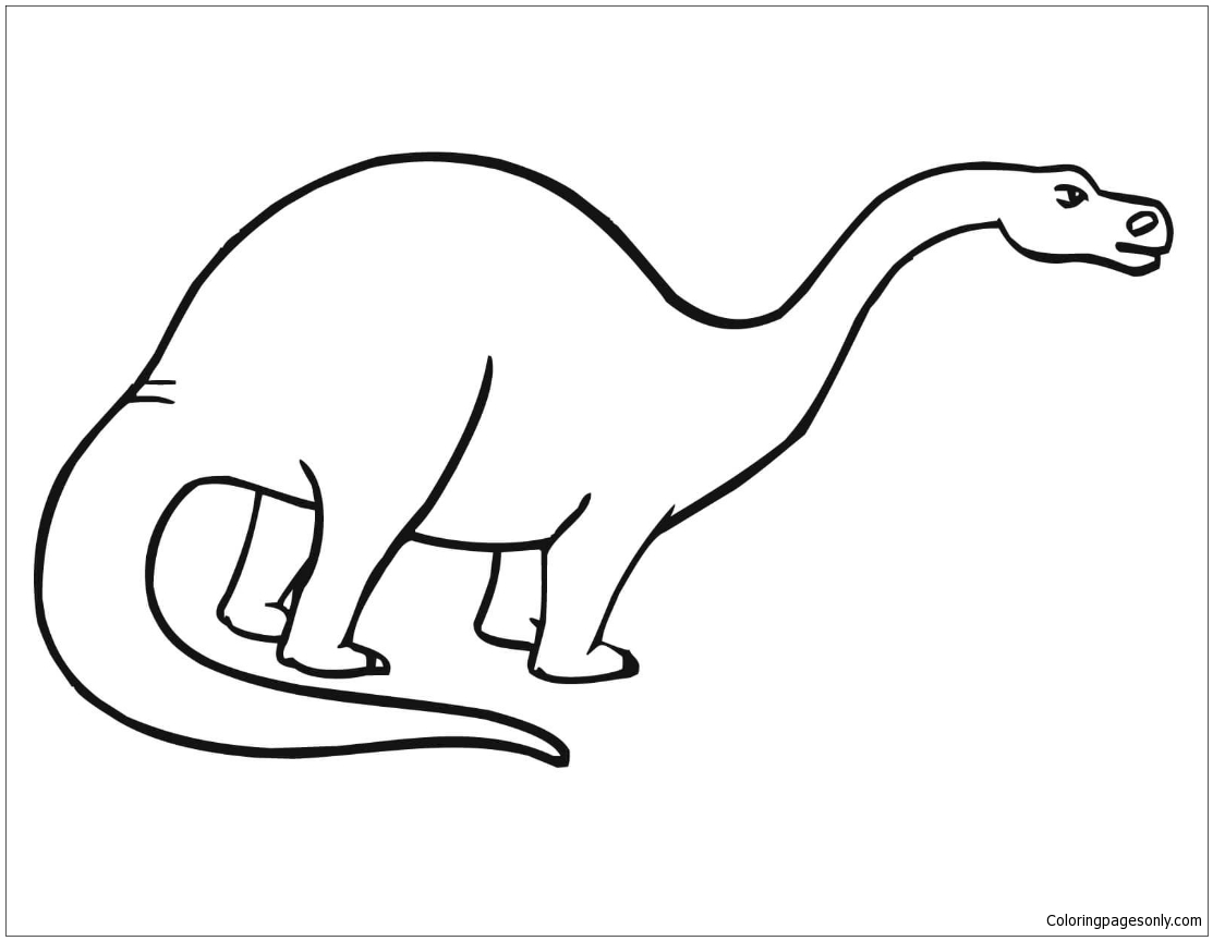Apatosaurus Sauropod Dinosaur Coloring Page