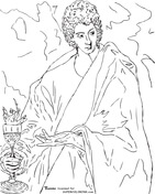 Apostle St. John the Evangelist by El Greco Coloring Page