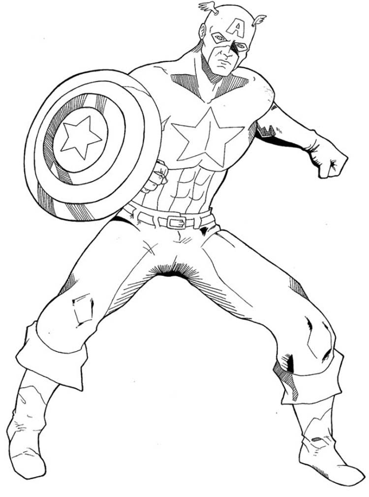 Appearance of Captain America Coloring Page