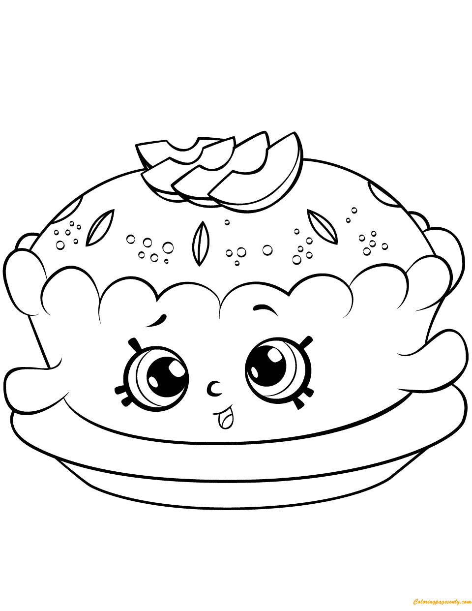Apple Pie Alice Shopkin Season 6 Coloring Page Free