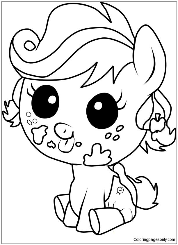 Applejack Infant Coloring Pages