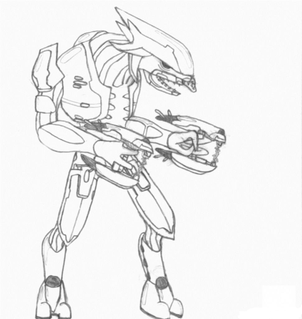 Arbiter Halo Angry Coloring Page