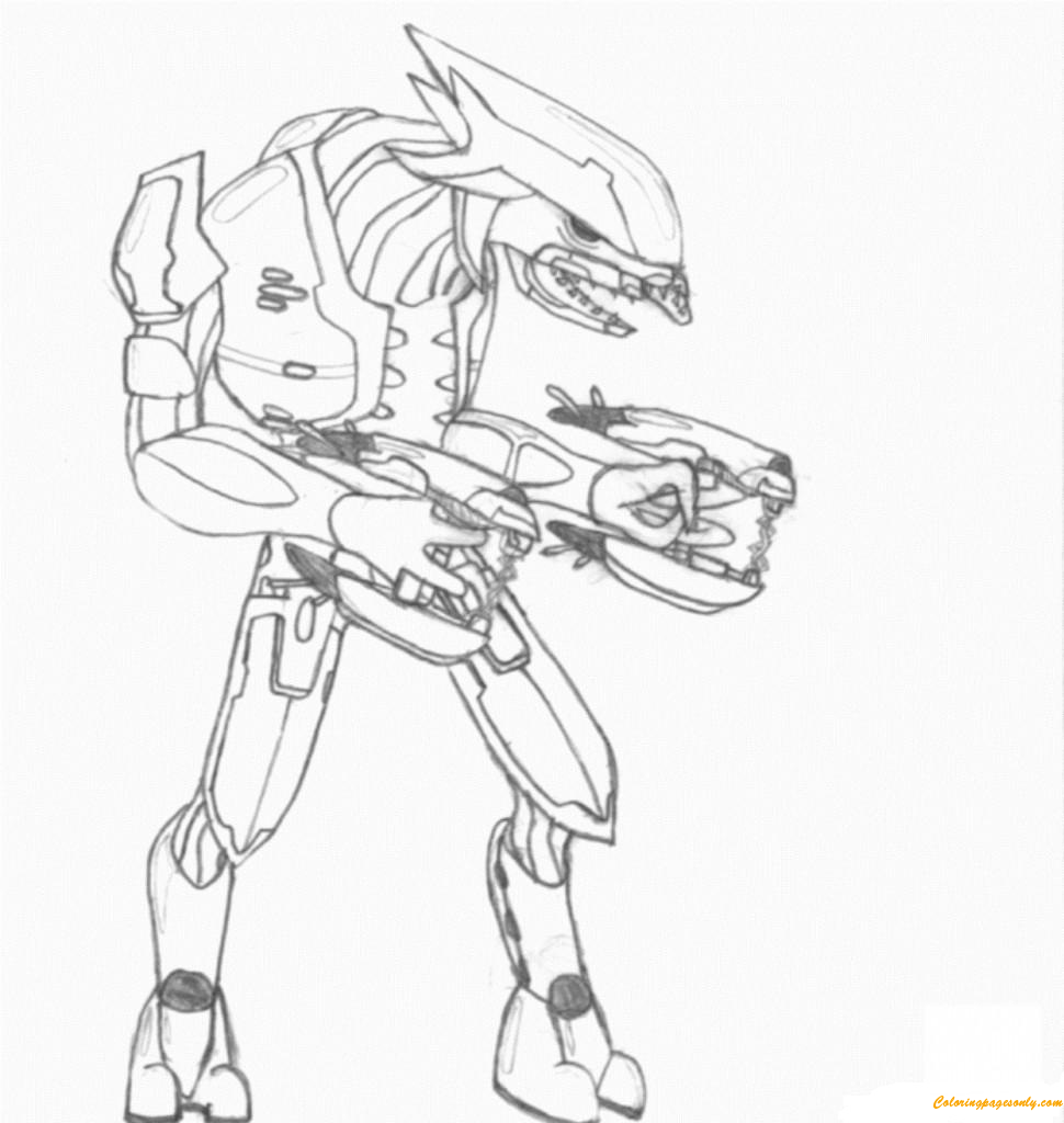 Arbiter Halo Angry Coloring Page Free Coloring Pages Online
