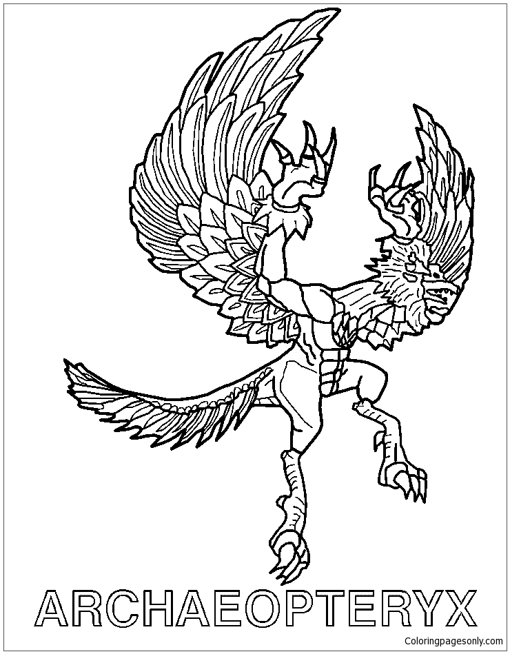 Archaeopteryx Invizimals Shadow Zone Coloring Page
