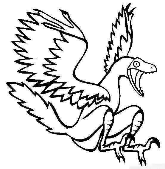Archeaopteryx Dinosaur is yelling