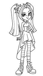Aria Blaze From My Little Pony Coloring Page