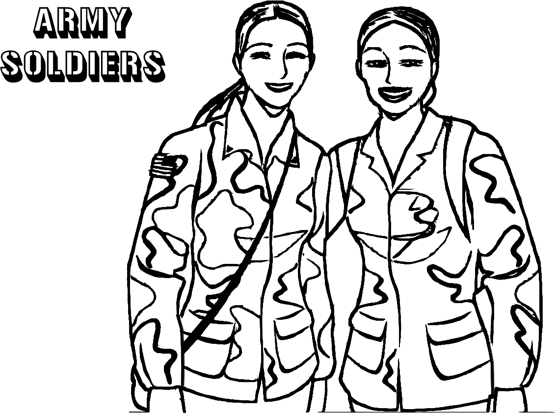 Army Soldiers Coloring Page