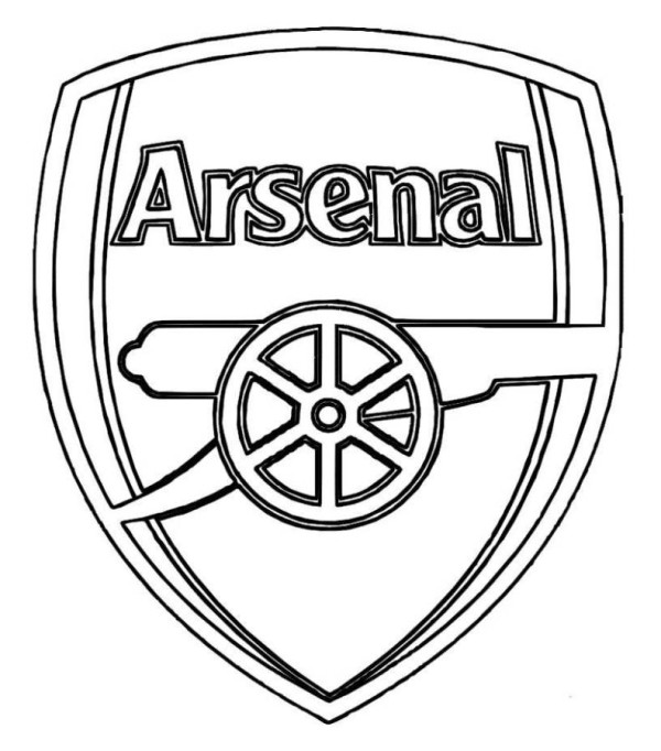 Arsenal F.C Coloring Page