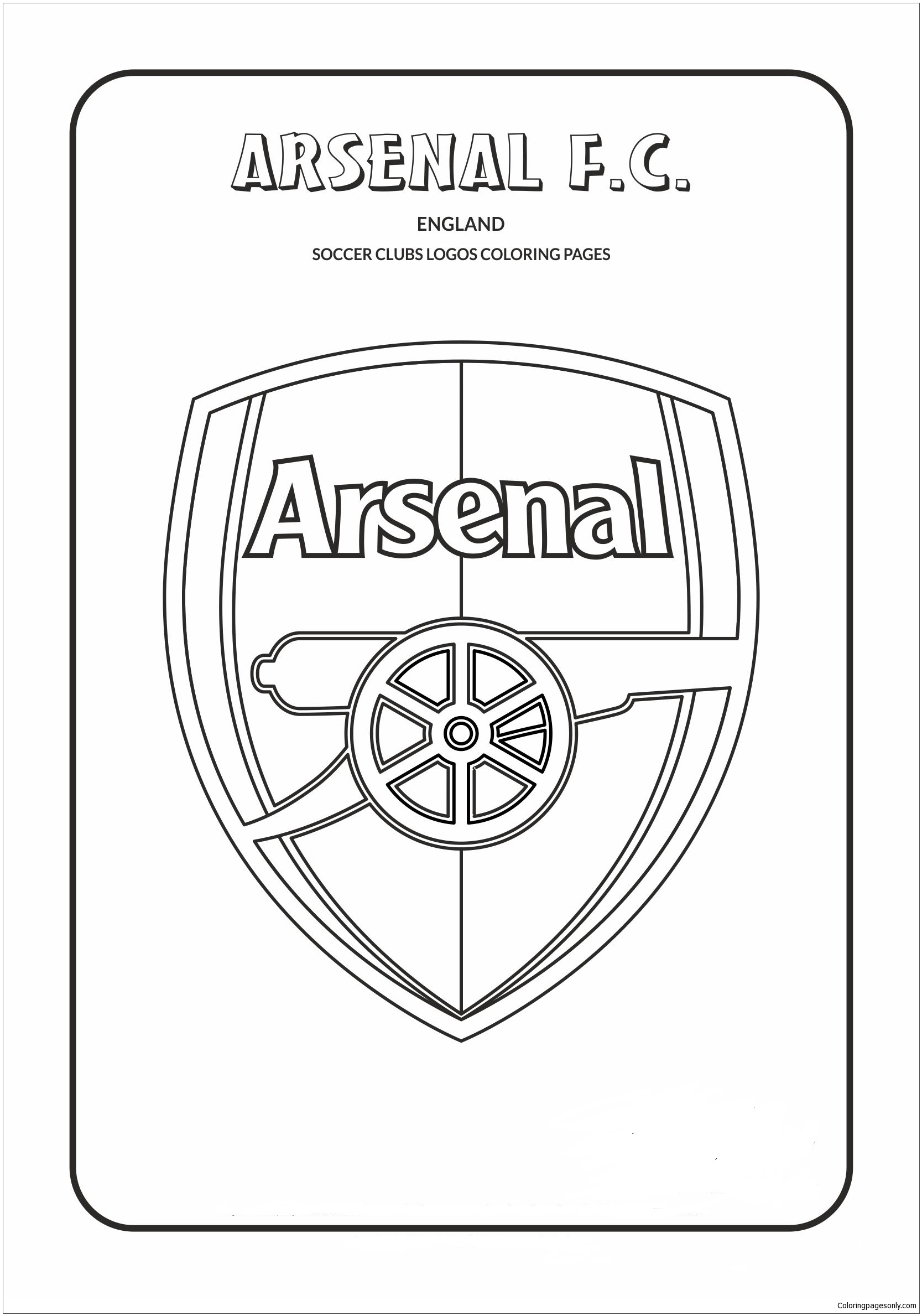 Arsenal F C Coloring Page Free Coloring Pages Online