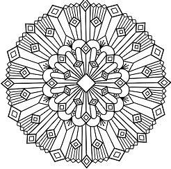 Art Deco Mandala Coloring Page