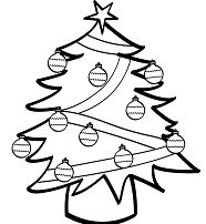 Artificial Christmas Tree Coloring Page