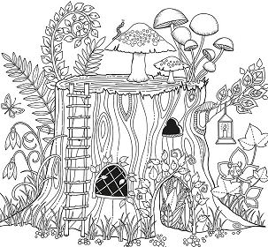 Artificial Forest Coloring Page