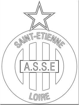 AS Saint-Étienne Coloring Page