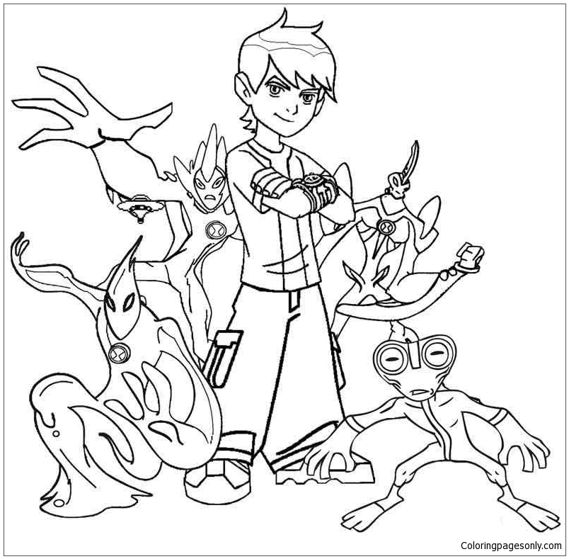 10 Astonishing Ideas To Spa Up Your Luxury White Bathroom: Astonishing Ben 10 Coloring Page