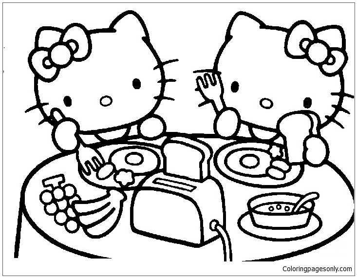 Astounding Hello Kitty Coloring Page