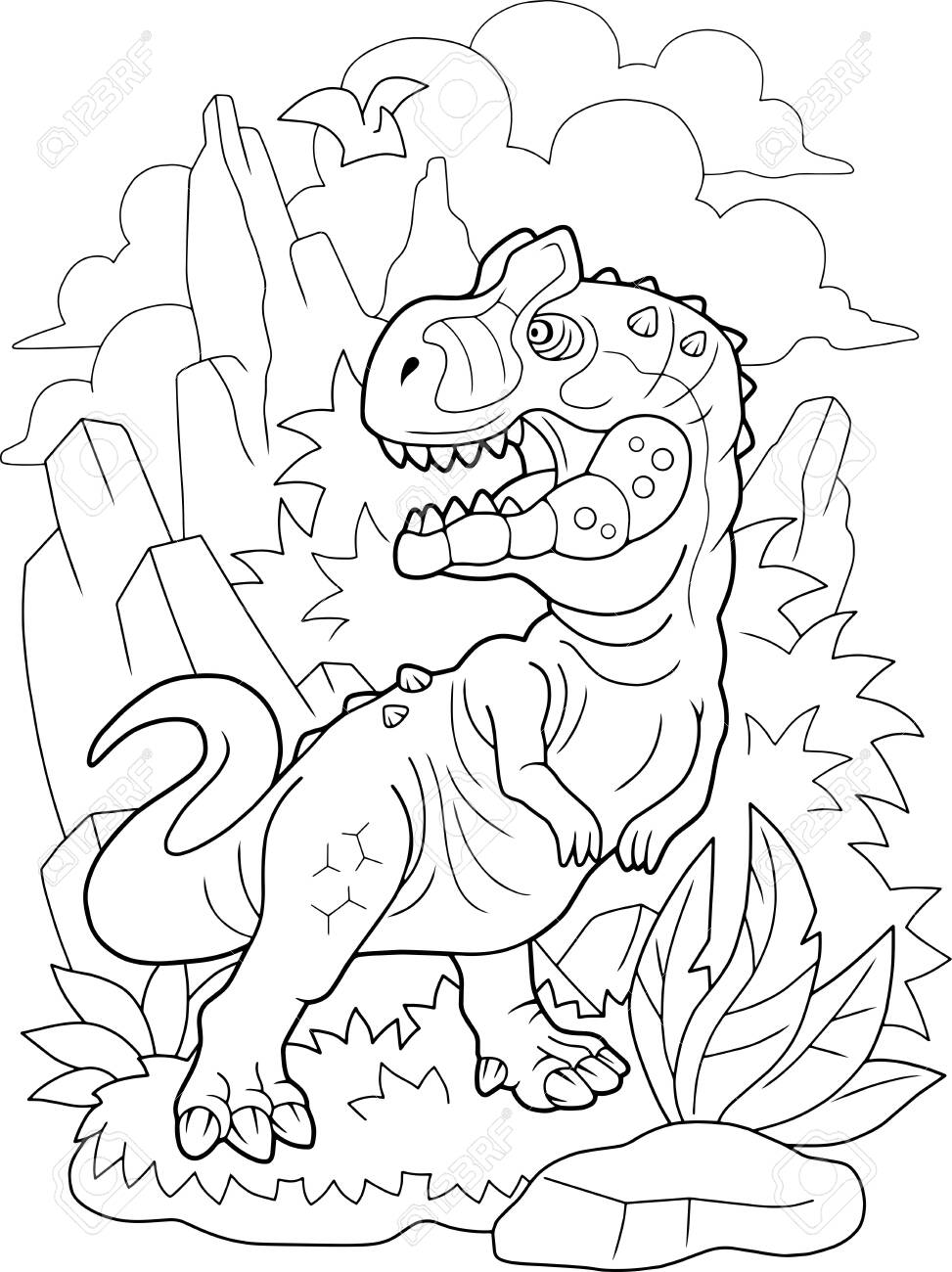 At the mountain Coloring Page