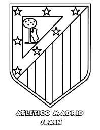 Atlético Madrid Coloring Page
