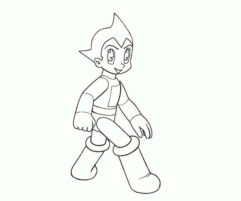 Atom Astro steps by step Coloring Page