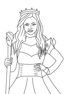 Audrey crown Coloring Page