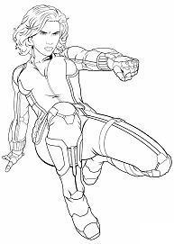 Avengers Black Widow 1 Coloring Page