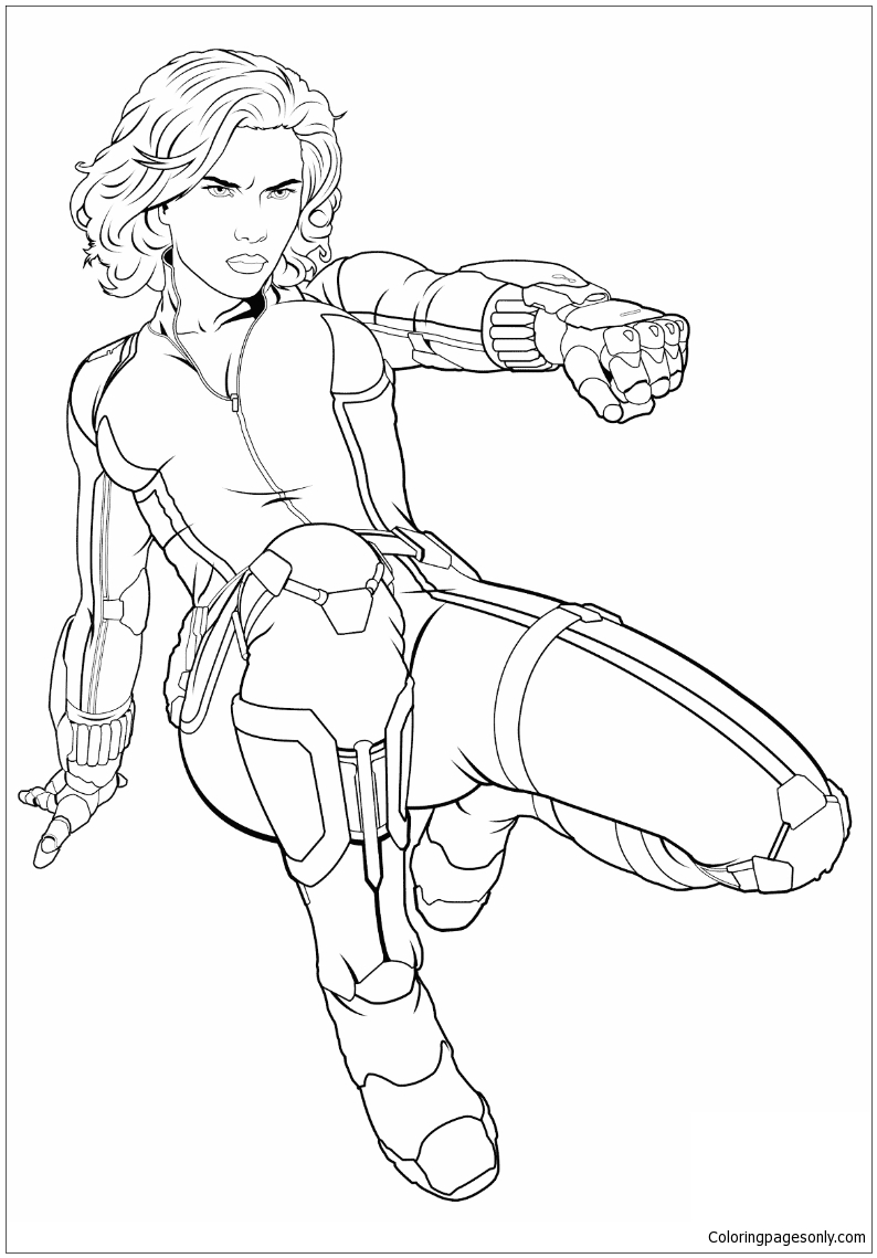 Download Avengers Black Widow 1 Coloring Page - Free Coloring Pages Online