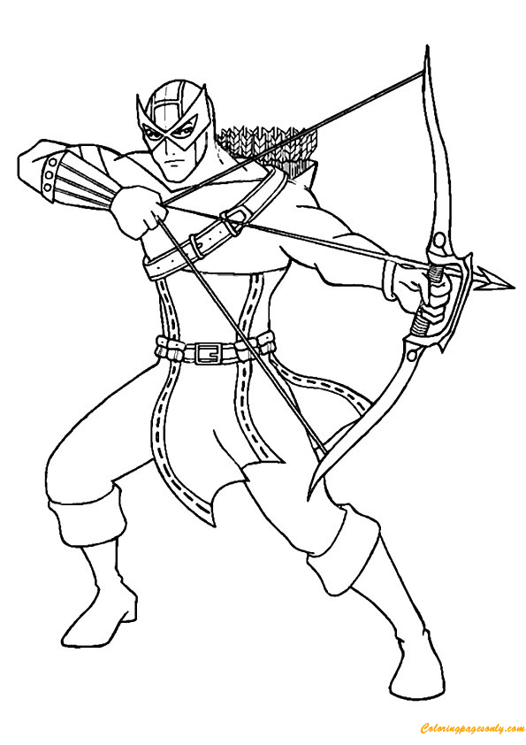 Avengers Team Hawkeye Coloring Page - Free Coloring Pages ...