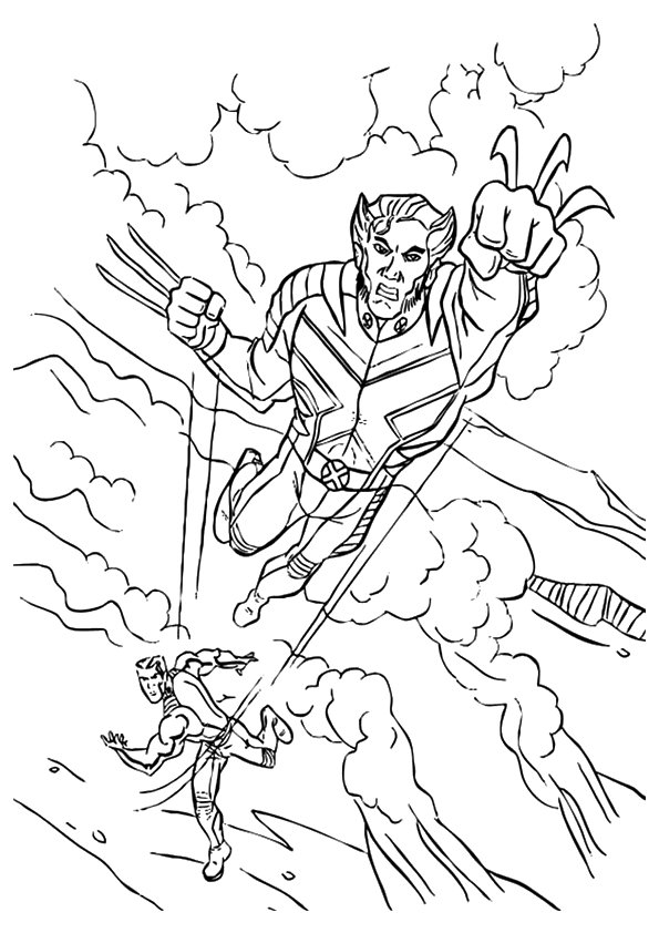 The Avengers Symbol Coloring Page