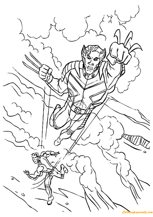 Download Avengers Coloring Pages Here Blackwidow: Avengers Wolverine Coloring Page