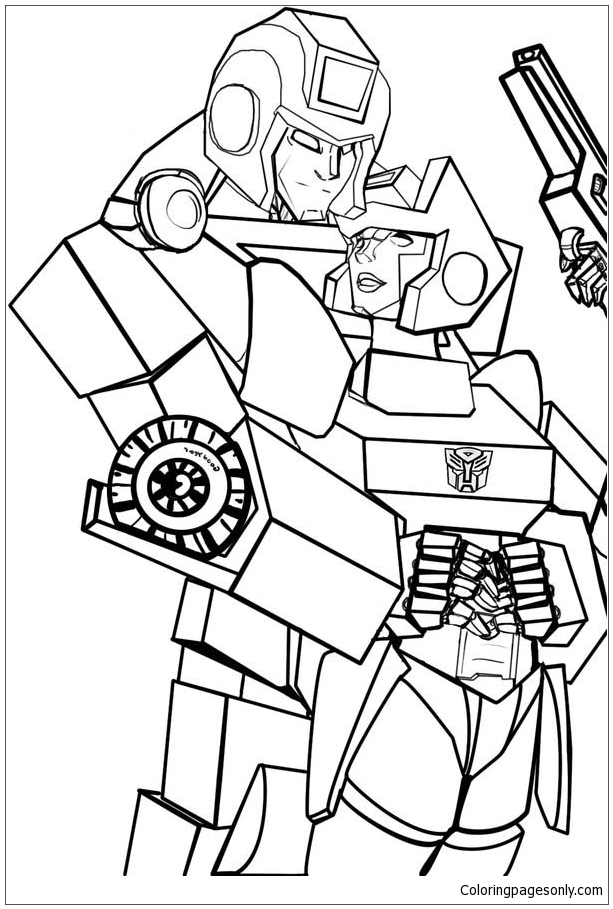 Awesome Ironhide Of Transformers Coloring Page - Free Coloring Pages ...