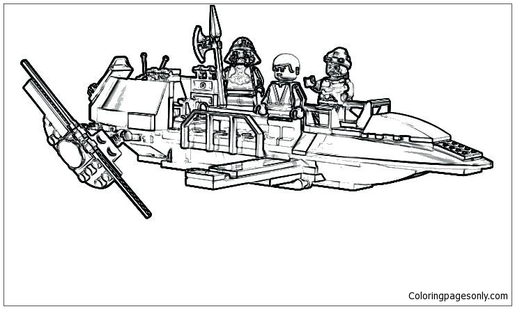 Awesome Lego Starwars Coloring Page - Free Coloring Pages Online