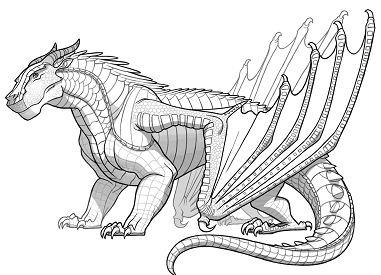 Awesome Mudwing Dragon Coloring Page
