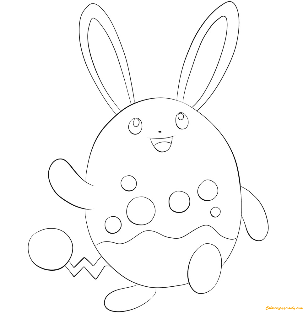 Azumarill Pokemon Coloring Pages