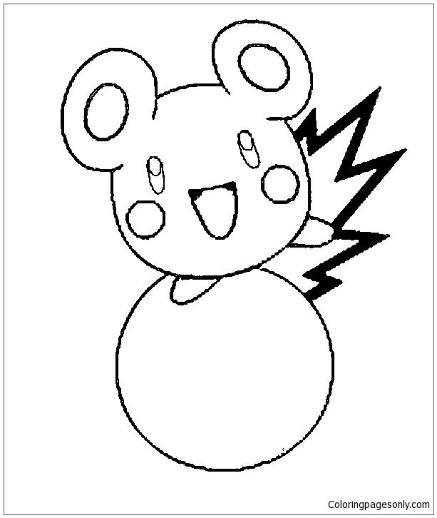 Aipom coloring page | Free Printable Coloring Pages | 726x613
