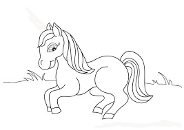 Baby Barbie Horse Coloring Page