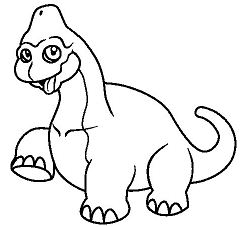 Baby Brachiosaurus Coloring Page