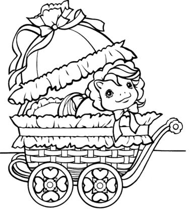 Baby Carrier Coloring Page
