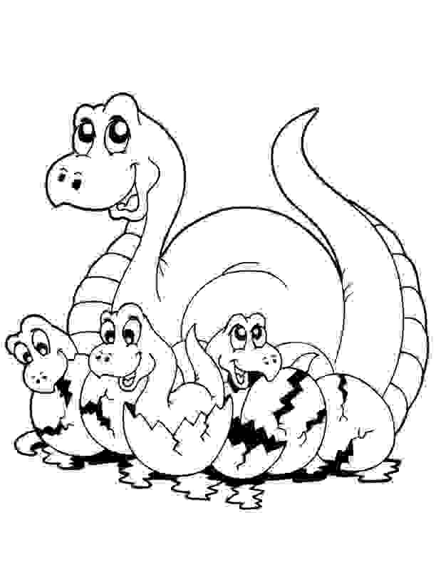 Baby Dinosaur Playtime Coloring Page