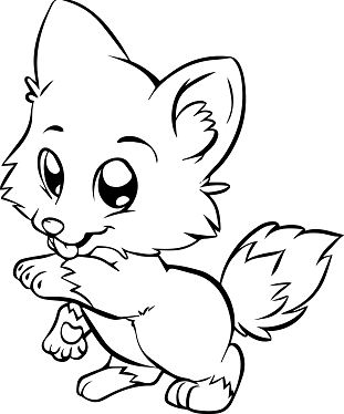 Baby Dog  Coloring Page