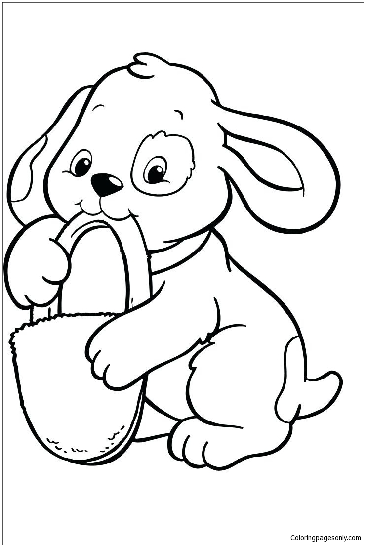 Baby Husky Coloring Pages - Puppy Coloring Pages - Free ...