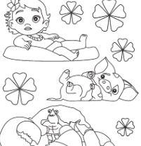 Baby Moana And Pets