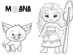 Baby Moana and Pig Pua