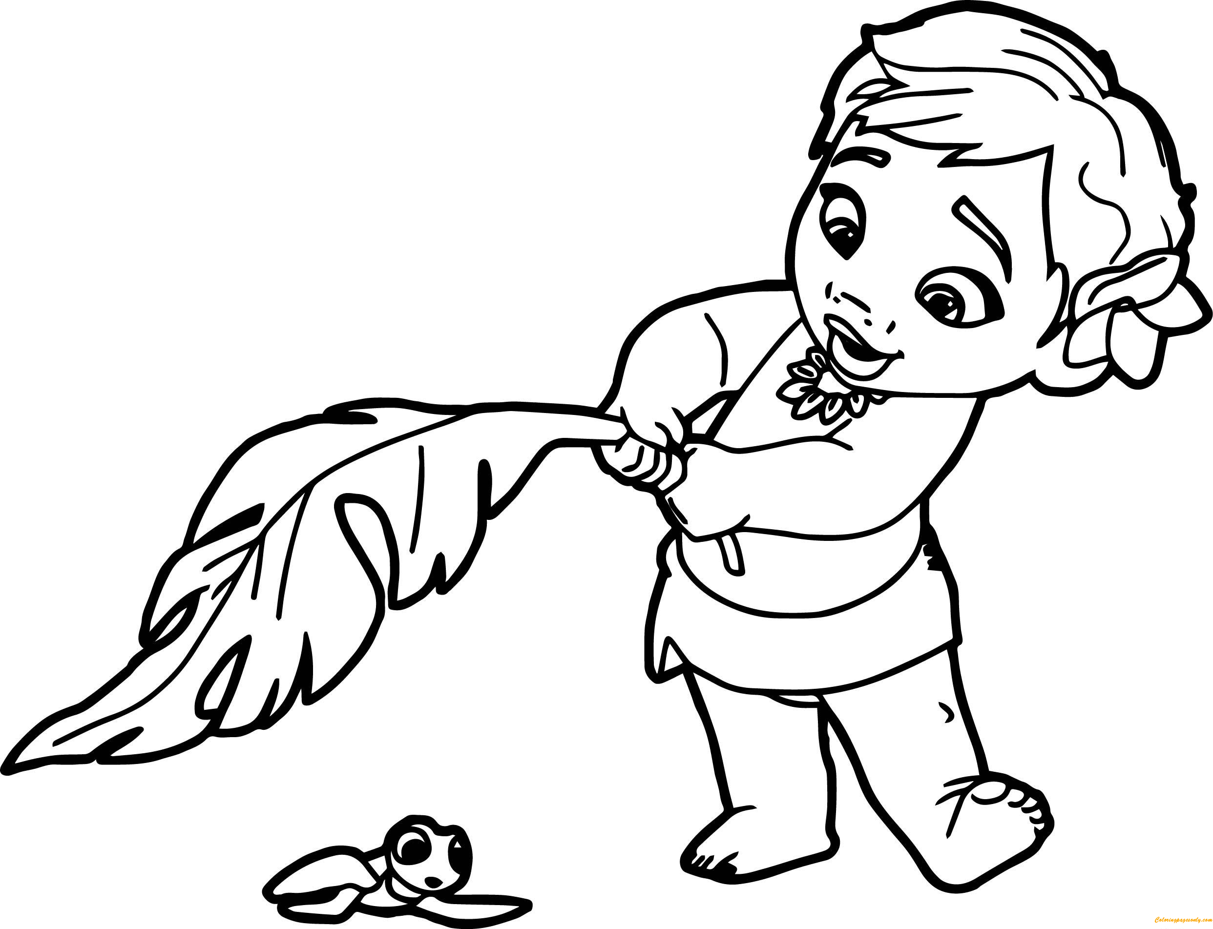 coloring page of a baby. Baby Moana Coloring Page  Free Pages Online