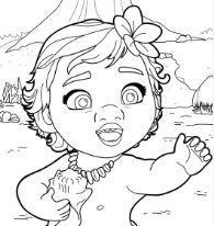 Baby Moana Princess Coloring Page
