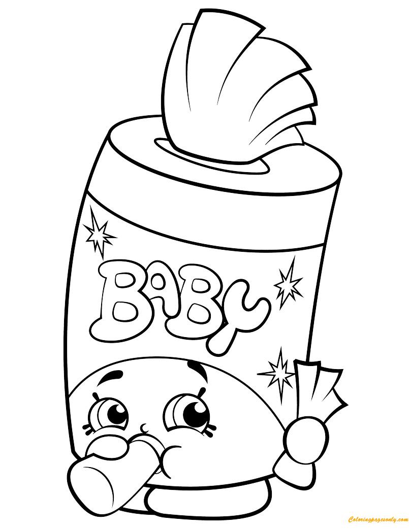 Baby Swipes Shopkin Season 2 Coloring Page Free Coloring