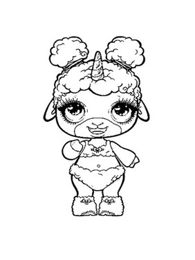 Baby Unicorn Cat Coloring Page