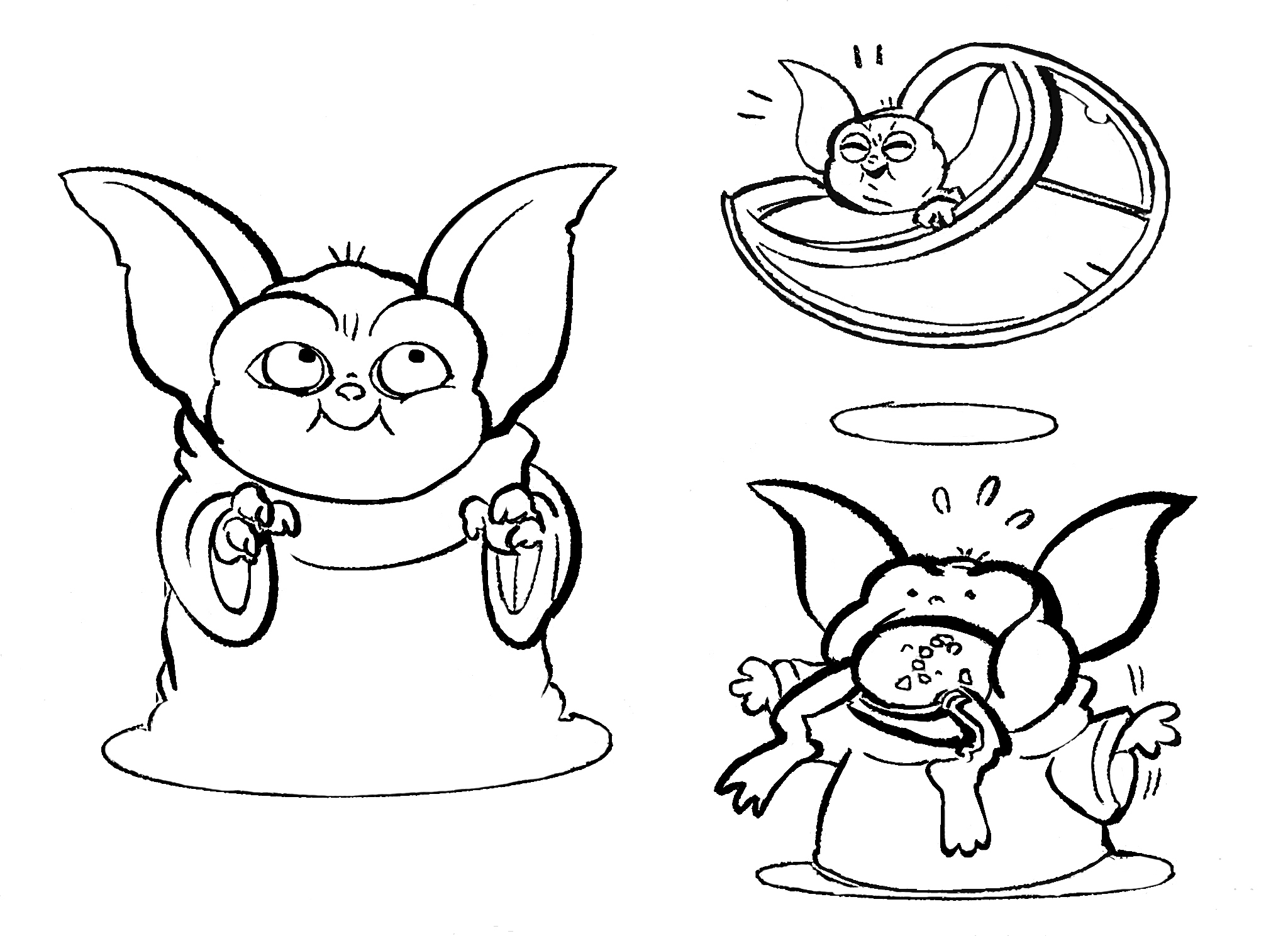 Baby Yoda daily Coloring Pages