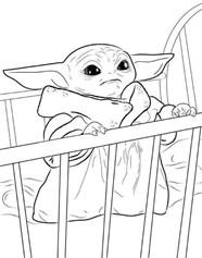 Baby Yoda In The Crib