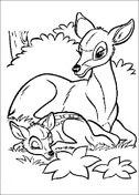 Bambi And Its Mom  from Bambi Coloring Page