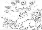 Bambi And Roe Deer  from Bambi Coloring Page