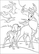 Bambi Asks Roe  from Bambi Coloring Page